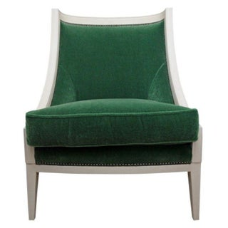 Century Furniture Green Velvet Arm Chair