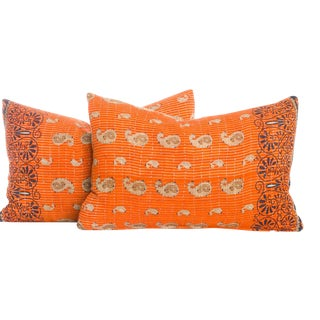 Vintage Kantha Pillows - a Pair