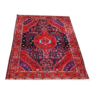 Hand Woven Nahavand Design Persian Rug - 5' x 8'