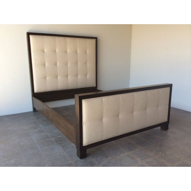 Mid century modern style queen bed chairish for Mid century style bed