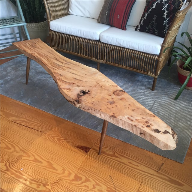 Live Edge Wood Slab Bench or Coffee Table - Image 2 of 9