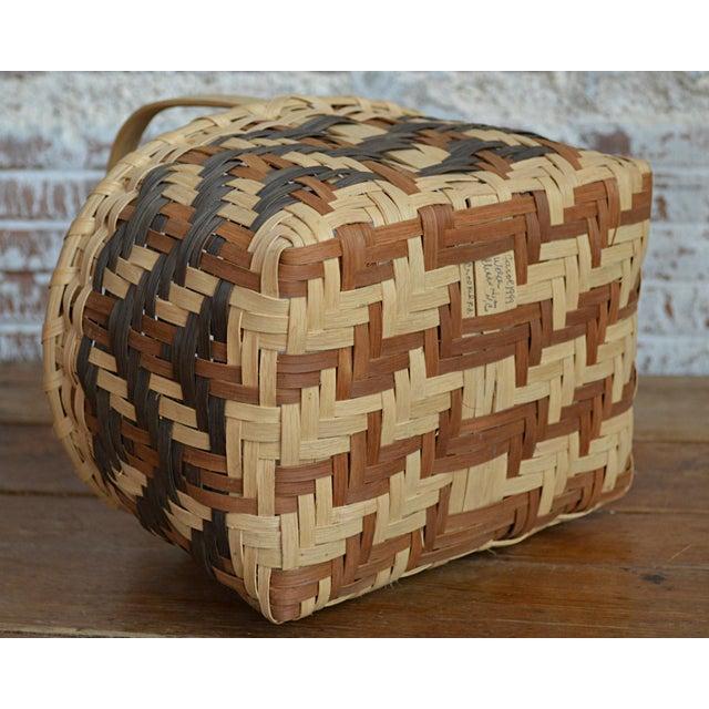 Carol Welch Cherokee White Oak Small Market Basket - Image 8 of 9