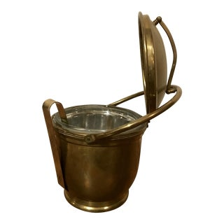 Brass Ice Bucket w/ Tongs