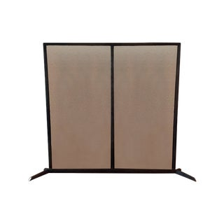 Roost Bark Hearth Fireplace Screen & Andirons