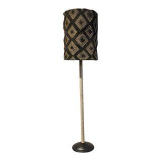 Kuba Cloth and Jute Rope Floor Lamp