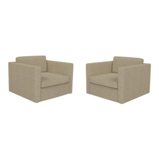 Knoll Pfister Ferry Edgewater Armchairs - a Pair