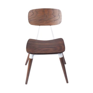 Copine Inspired Sean Dix Rustic Walnut Chair