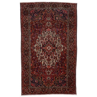 Antique Persian Bakhtiari Modern Style Rug - 9′9″ × 15′10″