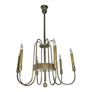 Italian Modern Neoclassical Chandelier by Brusotti