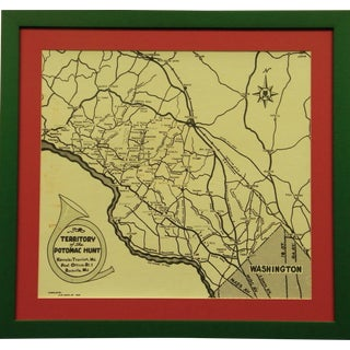 """""""Territory of the Potomac Hunt"""" Map"""