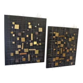 Pair of Contemporary Wall Sculptures by Curtis Jere