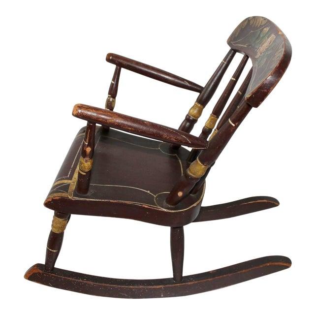 19th Century York County Pennsylvania, Original Painted Child's Rocking Chair - Image 1 of 9