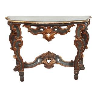 Italian Rococo Console Table