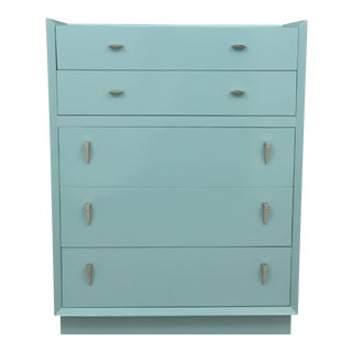 Midcentury Style Blue Chest of Drawers