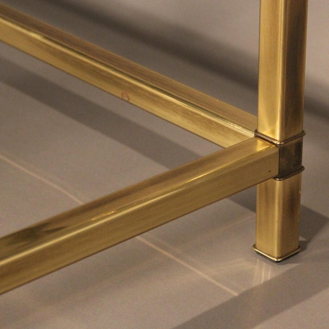 Mastercraft Brass and Glass Coffee Table - Image 4 of 10