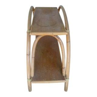 Ritts Tropitan Bamboo Rattan Tiki Side Table