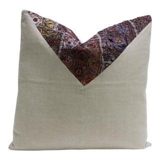 Daha Metallic Embroidered Square Pillow