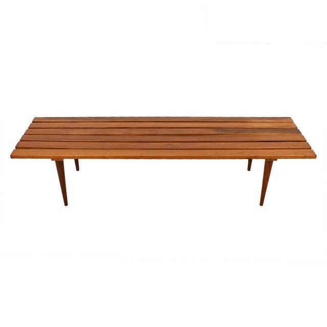 Walnut Slat Bench Coffee Table Chairish