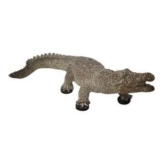 Alligator Figurine with Jeweled Finish
