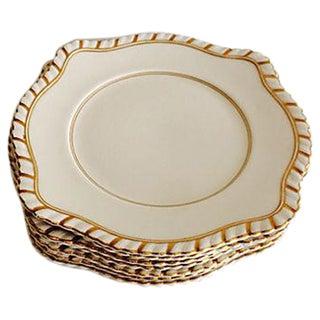 English Dessert Plates - Set of 7