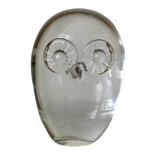 Vintage Mid-Century Crystal Owl