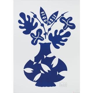 """Marco Del Re """"Vase II Bleu"""" 2008 Lithograph"""
