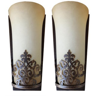 Vintage Art Deco Style Sconces - Pair