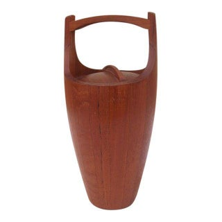 Dansk Mid-Century Staved Teak Wood Ice Bucket
