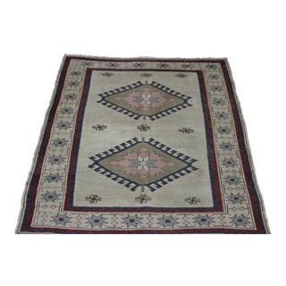 Traditional Turkish Wool Rug - 4' x 5'6""