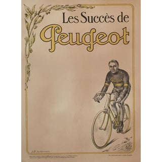 Circa 1910 French Vintage Peugeot Poster