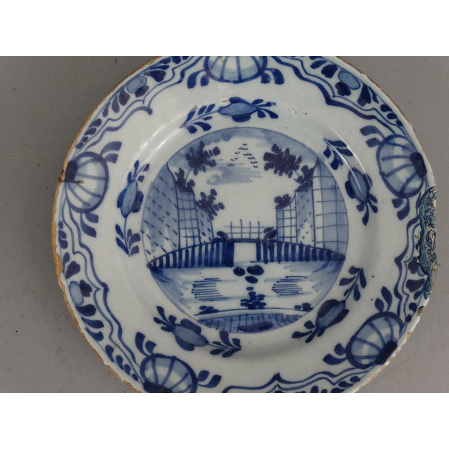 Image of Antique Dutch Delft Chinoiserie Plates- A Pair