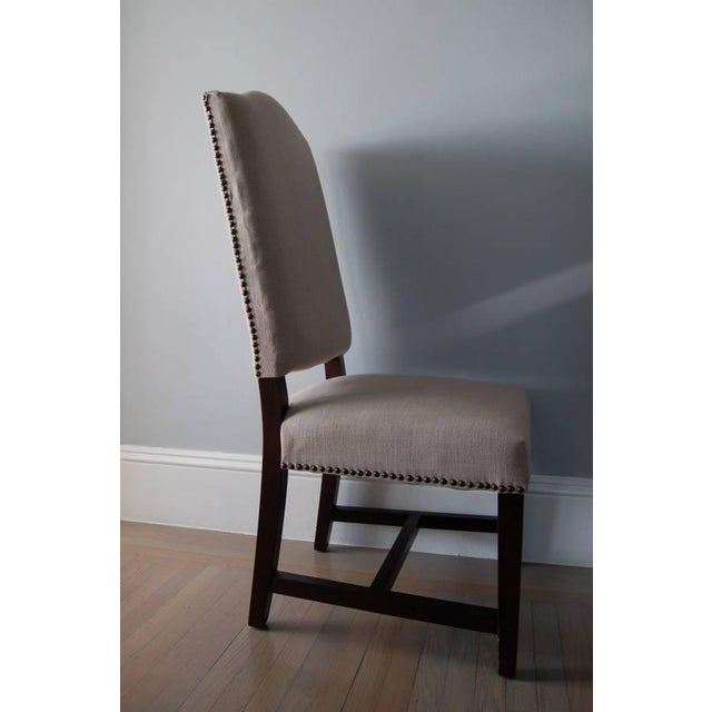 High Back Upholstered Dining Chairs - Pair - Image 3 of 5