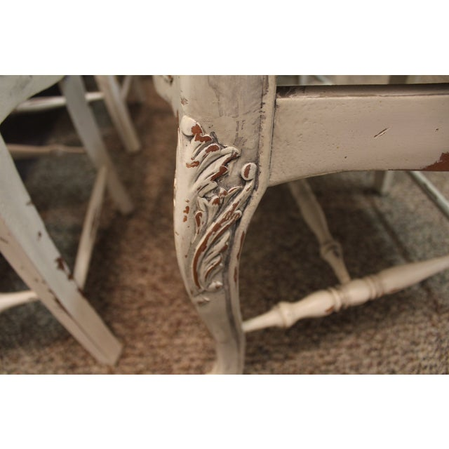 Country French Rush Seat Side Chairs - Set of 8 - Image 9 of 9