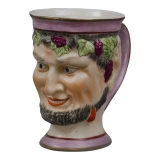 English Staffordshire Bacchus Satyr Mug, Circa 1870