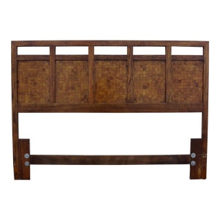 Mid-Century Walnut Patchwork Headboard