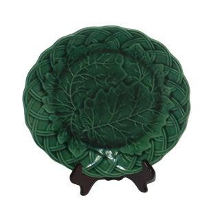 19th Century Green Majolica Plate