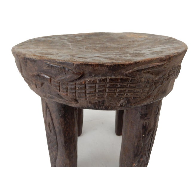 Image of African Carved Milk Stool