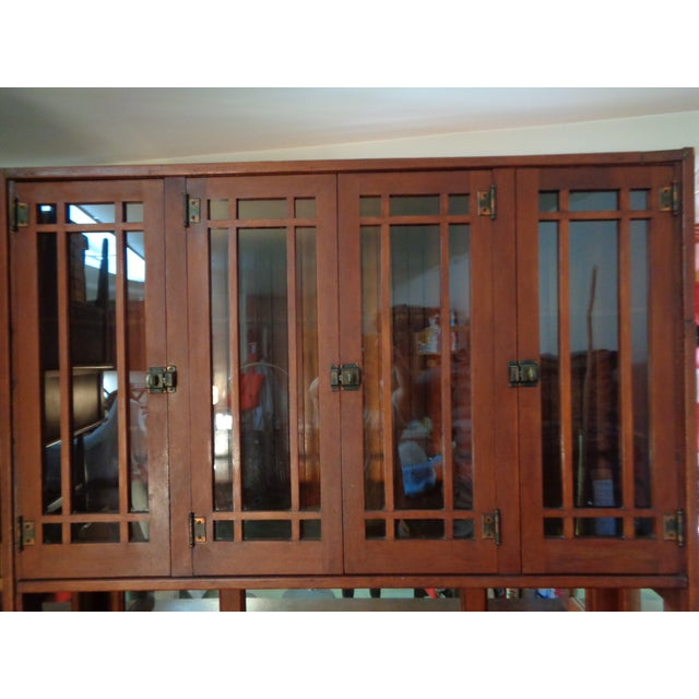 Antique Mission Hutch China Cabinet - Image 4 of 11