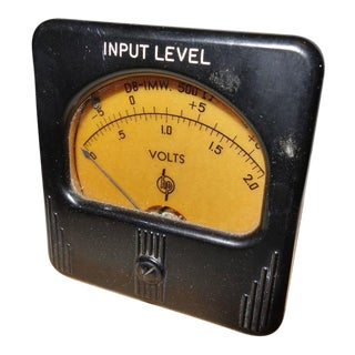 Simpson Meter Made for Early Hewlett Packard. Circa 1940s. Stone Mounted Paperweight Or Display As Sculpture.