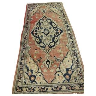Handmade Persian Mahal Rug - 4′5″ × 10′7″