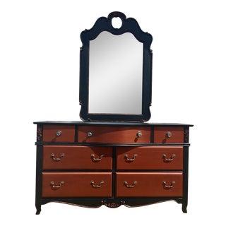 C. 1900 Black & Copper Dresser