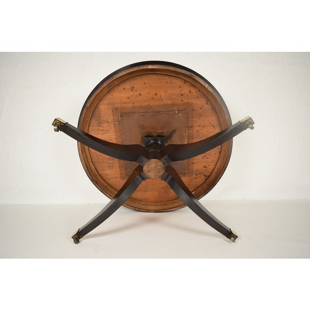 Antique Regency Round Ebonized Center/Dining Table - Image 5 of 5