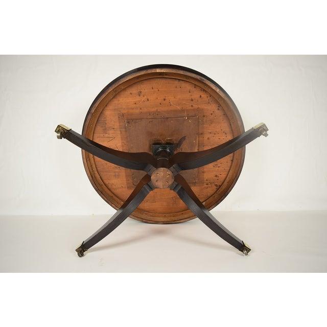 Image of Antique Regency Round Ebonized Center/Dining Table