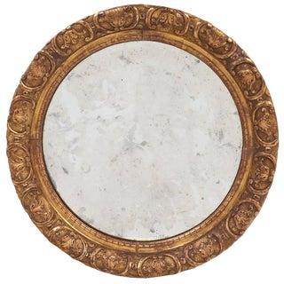Restauration Period Round Gold Leaf Mirror
