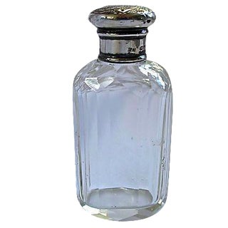 Antique Cut Glass & Sterling Pill Bottle