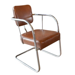 American Mid-Century Chrome Chair