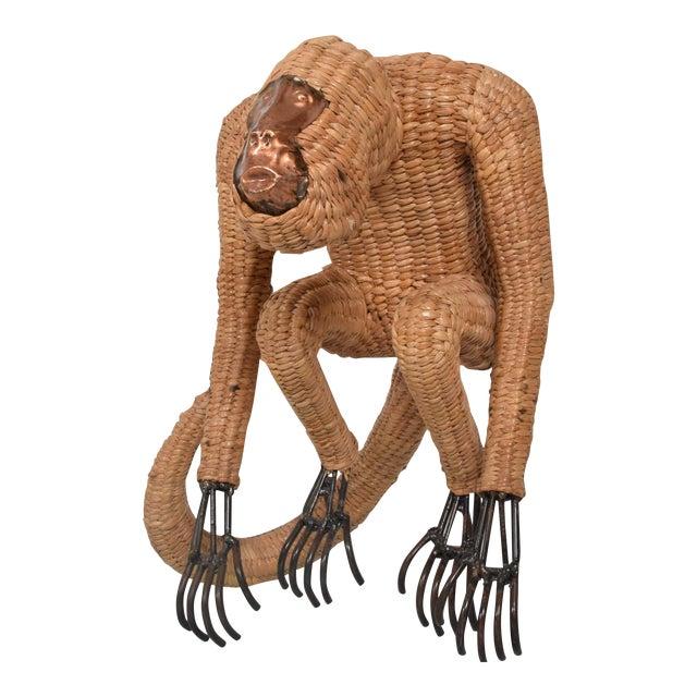 Mario Lopez Torres Wicker Monkey Sculpture - Image 1 of 10