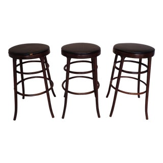 Mid-Century Bentwood Bar Stools - Set of 3