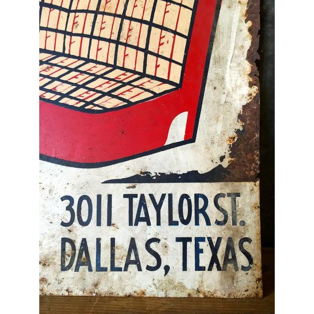 Vintage Spradling's Dallas Texas Trade Sign - Image 6 of 7