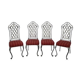 Wrought Iron Dining Chairs - Set of 4